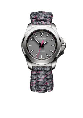 Victorinox Swiss Army  Inc  Women's I.N.O.X. Gray and Pink Paracord Watch -  5400118241771