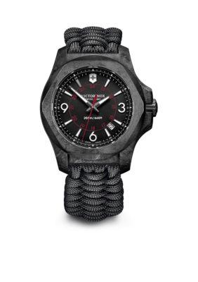 Victorinox Swiss Army  Inc  Men's I.N.O.X. Carbon Black Dial Watch -  5400118241776