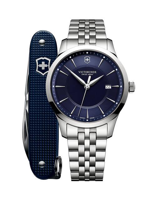 Mens Stainless Steel Alliance Bracelet Watch