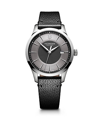 eb61f74a0 Victorinox Swiss Army, Inc. Victorinox Swiss Army, Inc Alliance Stainless  Steel Scratch-Resistant Leather-Strap Watch