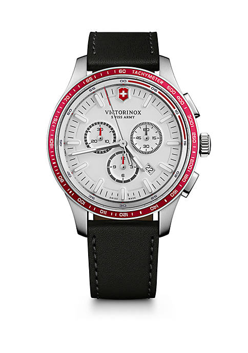 Alliance Sport Chronograph Leather Strap Watch