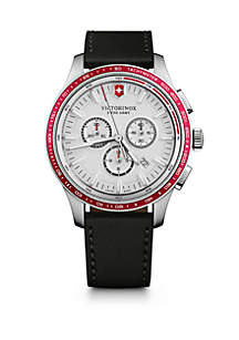 Victorinox Swiss Army, Inc Alliance Sport Chronograph Leather Strap Watch