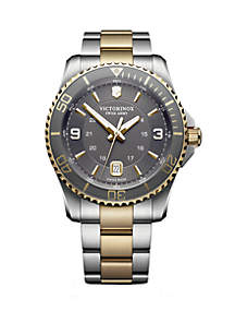Victorinox Swiss Army, Inc 2 Tone Maverick Bracelet Watch