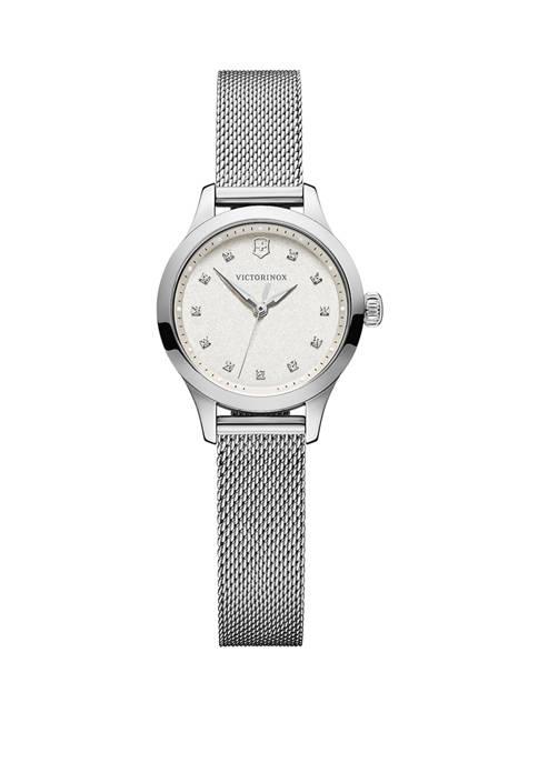 Womens Alliance XS Swarovski Crystal Markers Stainless Steel Bracelet Watch
