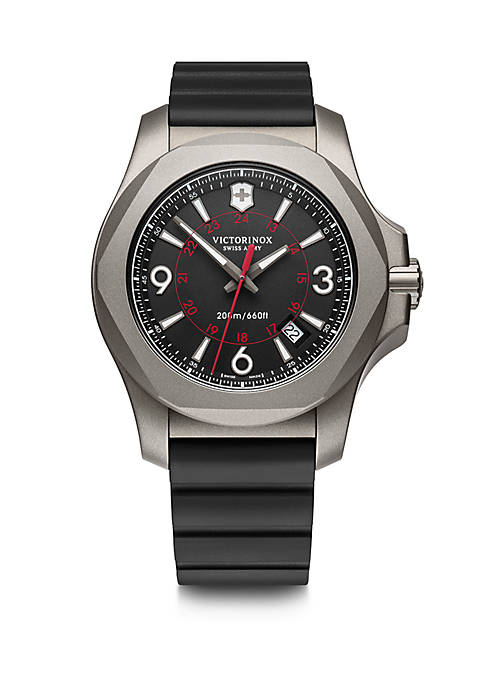 Mens Titanium I.N.O.X. Rubber Strap Watch