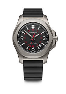 Victorinox Swiss Army, Inc Men's Titanium I.N.O.X. Rubber Strap Watch