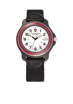 Victorinox Swiss Army, Inc Original XL White Dial Red Bezel Nylon Strap  Watch | belk