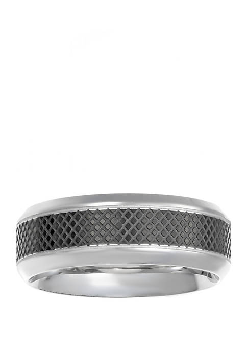 Belk & Co. Mens Stainless Steel Ring with