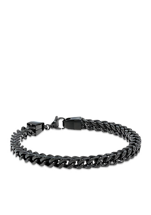 Belk & Co. Mens Stainless Steel Chain Bracelet