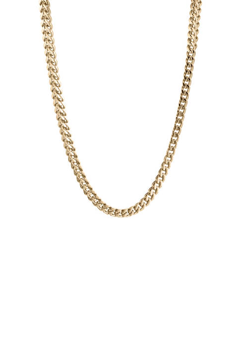 Stainless Steel Thin Foxtail Chain Necklace