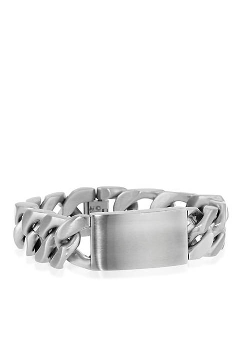 Belk & Co. Mens Stainless Steel ID Bracelet