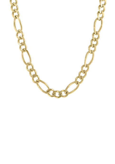Belk & Co. Stainless Steel Figaro Chain Necklace