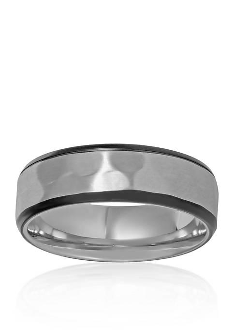 Belk & Co. Mens Stainless Steel Ring