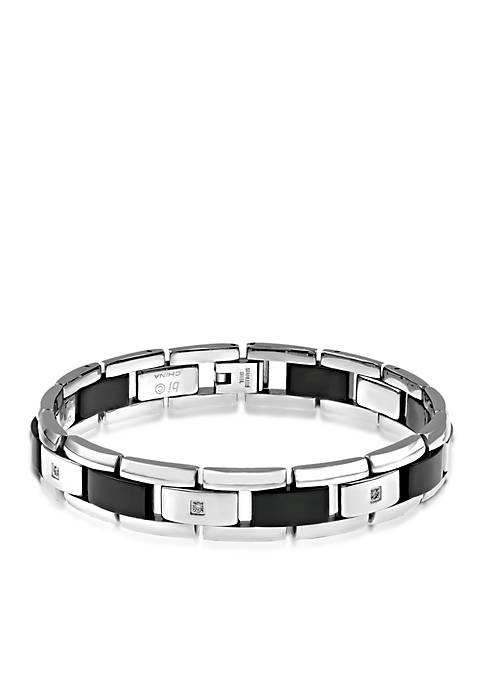 Belk & Co. Mens Diamond and Black Ceramic