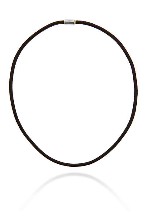 Belk & Co. Mens Black Leather Necklace