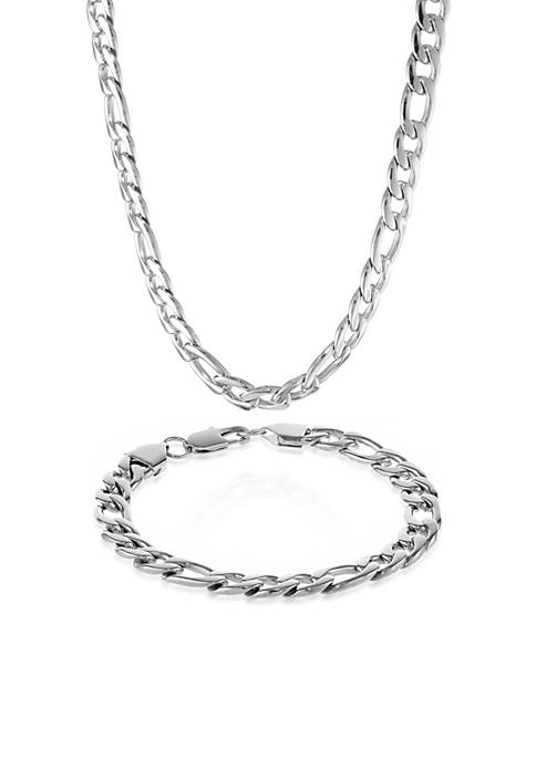 Belk & Co. Mens Stainless Steel Necklace and