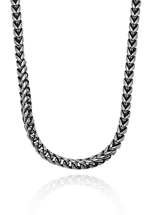 Mens Stainless Steel Foxtail Necklace