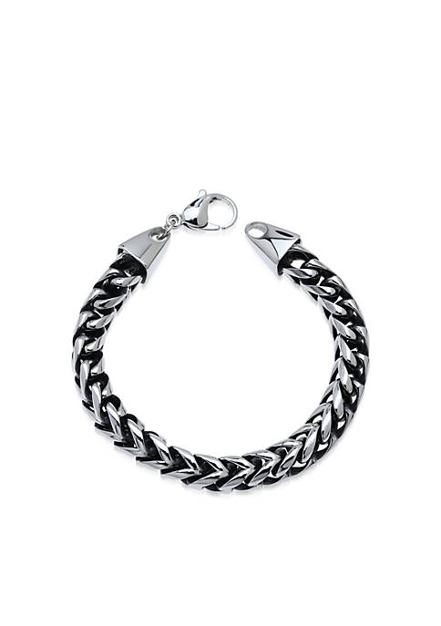 Mens Stainless Steel Foxtail Bracelet