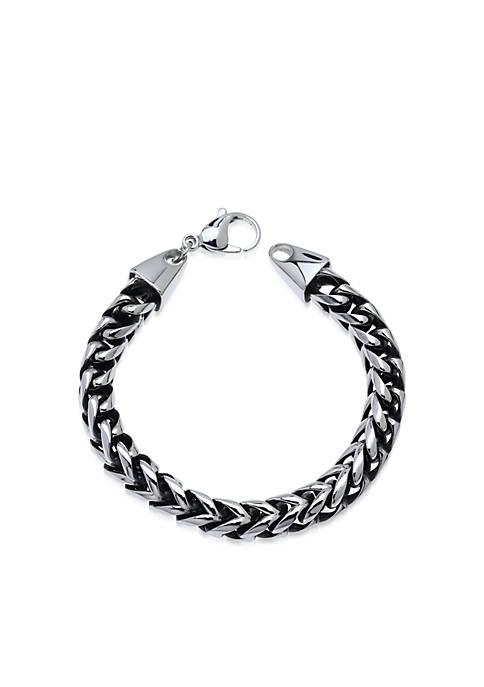 Belk & Co. Mens Stainless Steel Foxtail Bracelet