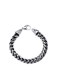 Belk & Co. Men's Stainless Steel Foxtail Bracelet