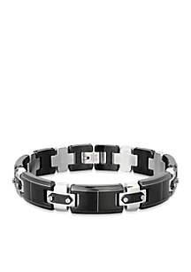 Men's Stainless Steel Bracelet With Screws