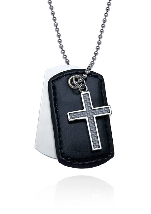 Belk & Co. Mens Stainless Steel Cross and