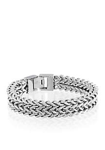 Belk & Co. Men's Stainless Steel Double Strand Bracelet