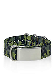 Belk & Co. Men's Stainless Steel Camouflage ID Bracelet