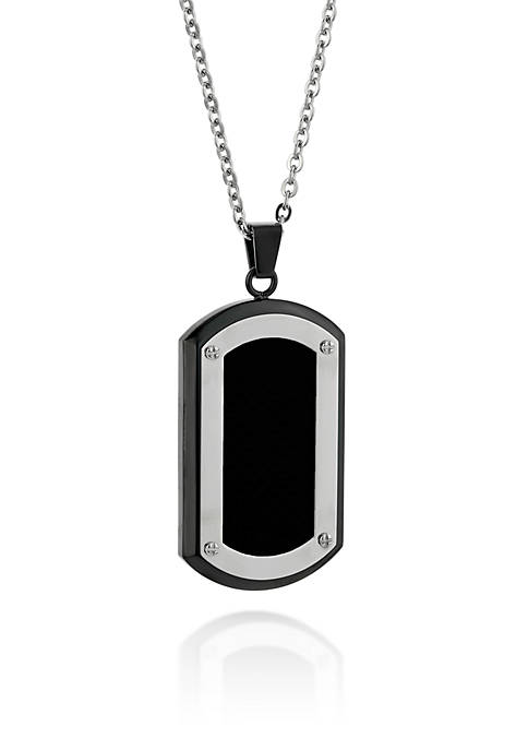 Belk & Co. Mens Stainless Steel Dog Tag