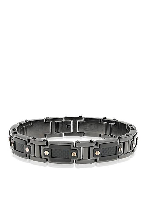 Belk & Co. Mens Stainless Stainless Steel Bracelet