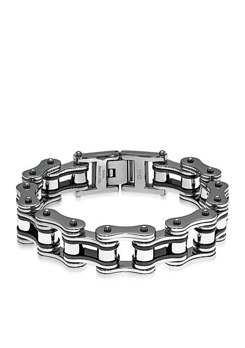 Mens Stainless Steel Motorcycle Chain Bracelet