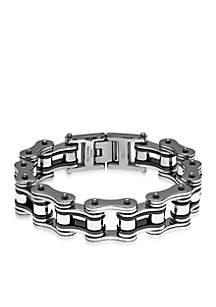 Belk & Co. Men's Stainless Steel Motorcycle Chain Bracelet