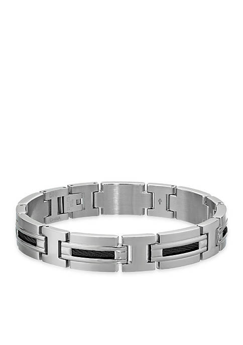 Belk & Co. Mens Stainless Steel Cable Bracelet
