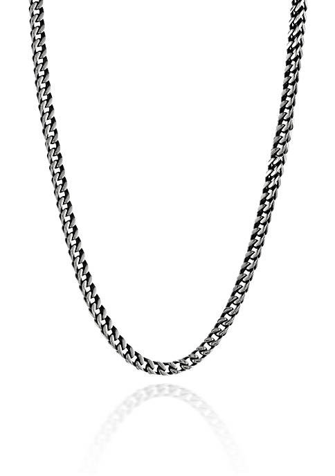 Belk & Co. Mens Stainless Steel Foxtail Necklace