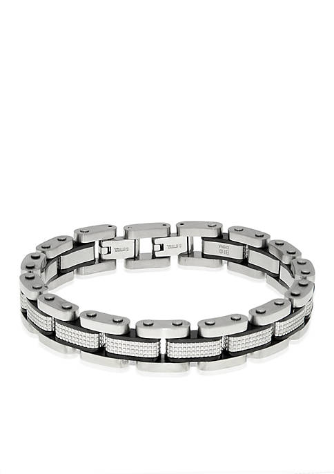Belk & Co. Mens Stainless Steel Textured Bracelet