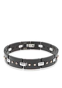 Men's Stainless Steel and Tungsten Bracelet