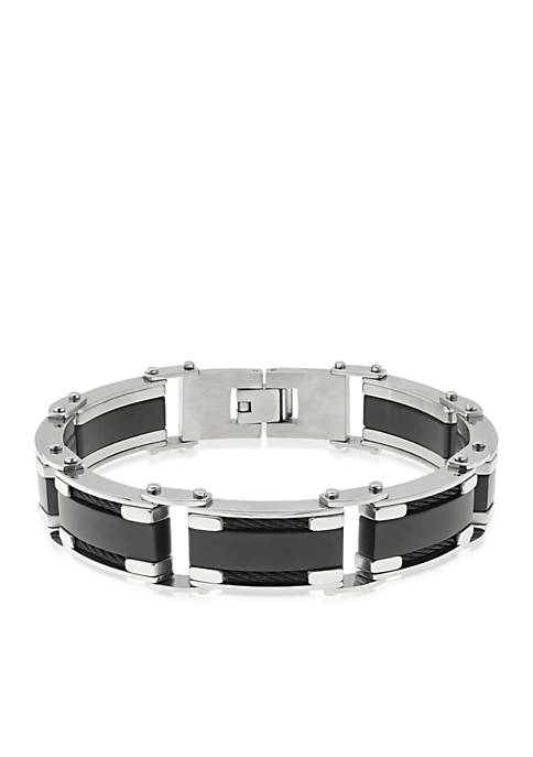Belk & Co. Mens Stainless Steel Bracelet with