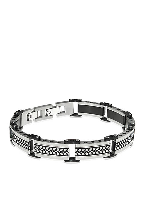 Belk & Co. Mens Stainless Steel Textured Bracelet