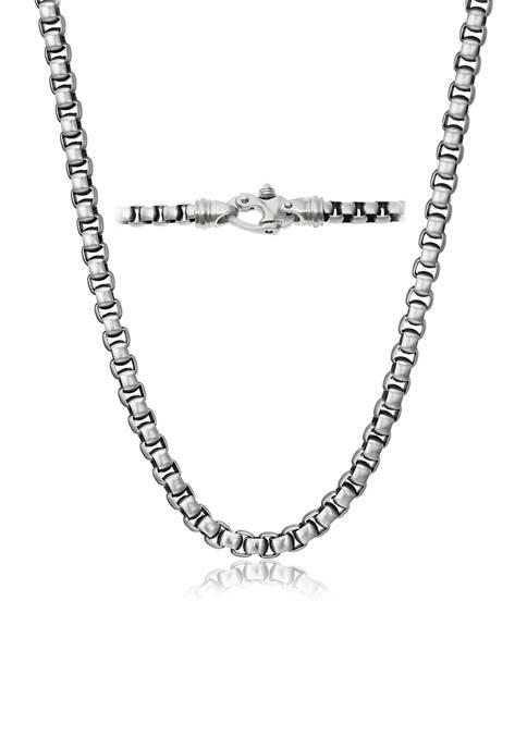 Belk & Co. Mens Stainless Steel Link Necklace