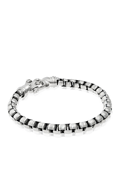Belk & Co. Mens Stainless Steel Link Necklace