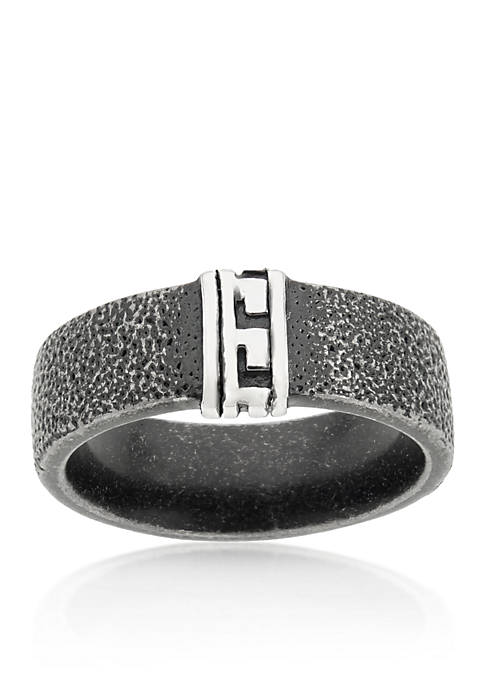 Belk & Co. Mens Stainless Steel Textured Ring