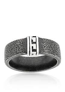 Men's Stainless Steel Textured Ring