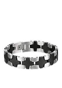 Men's Stainless Steel Textured Bracelet