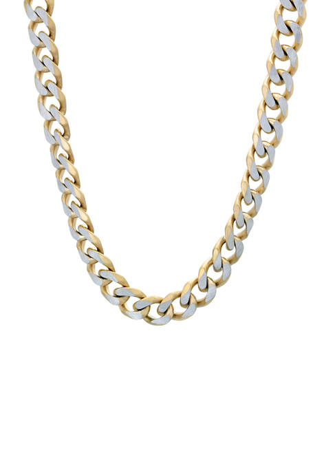 Stainless Steel Curb Chain Necklace with Double Extension Lock