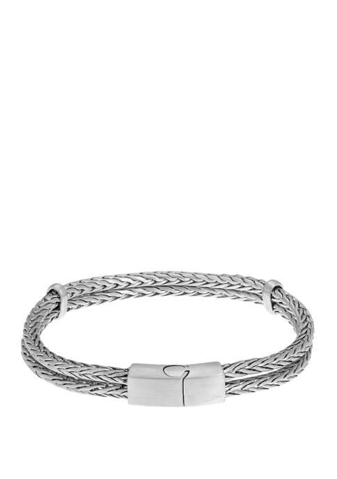 Belk & Co. Stainless Steel 2 Row Bracelet