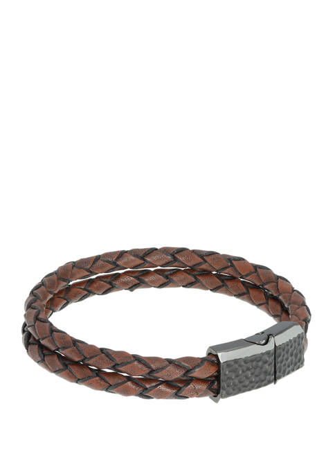 Belk & Co. Stainless Barce Brown Leather with