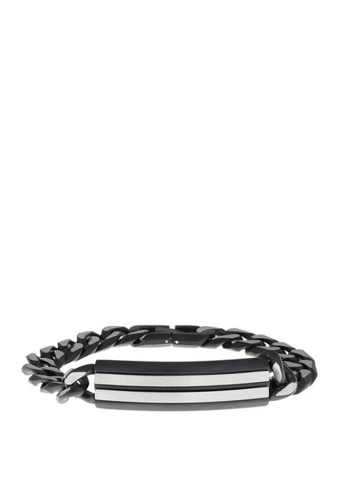 Belk & Co. Stainless Steel Black Ion Plated