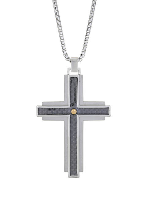 Belk & Co. Stainless Cross Pendant Necklace with