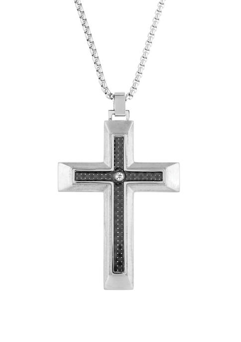 Belk & Co. Stainless Cross Pendant Necklace on