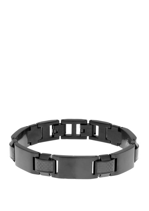 Belk & Co. Stainless Steel Bracelet with Carbon